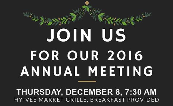 MacArthur Boulevard Association 2016 Annual Meeting - December 8, 7:30 a.m..