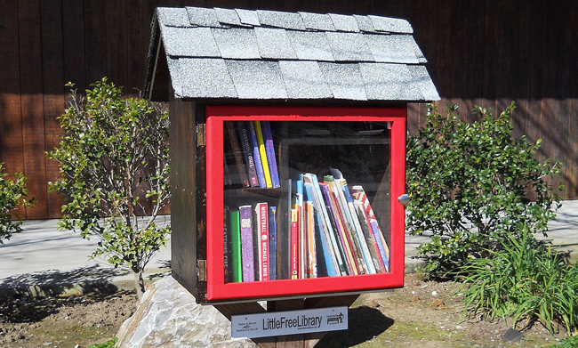 Image via https://commons.wikimedia.org/wiki/File:Sunnyvale_Little_Free_Library.JPG