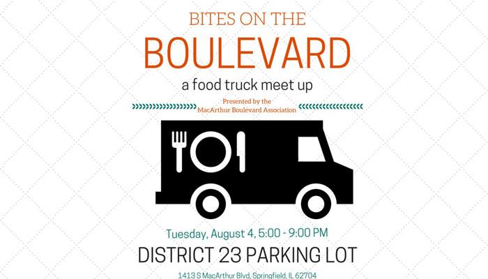 Bites on the Boulevard - MacArthur Boulevard Springfield, IL Tuesday, August 4, 5-9pm.