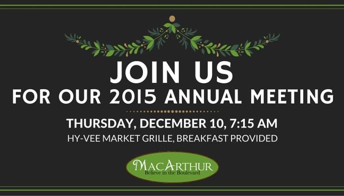 MacArthur Boulevard Association 2015 Annual Meeting