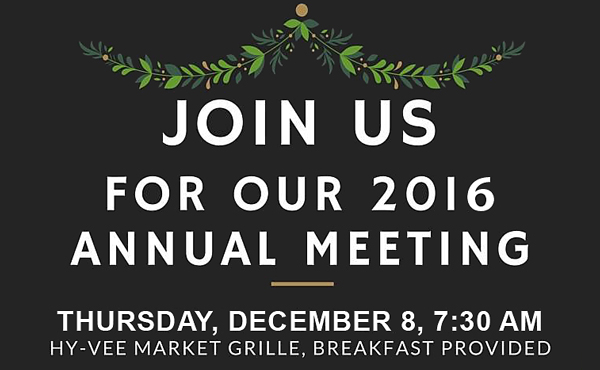 MacArthur Boulevard Association 2016 Annual Meeting - December 8, 7:30 a.m..