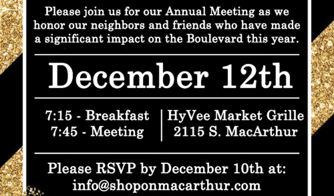 Join us for our Annual Meeting 2019 and look forward to what promises to be an eventful 2020 for MacArthur Boulevard!