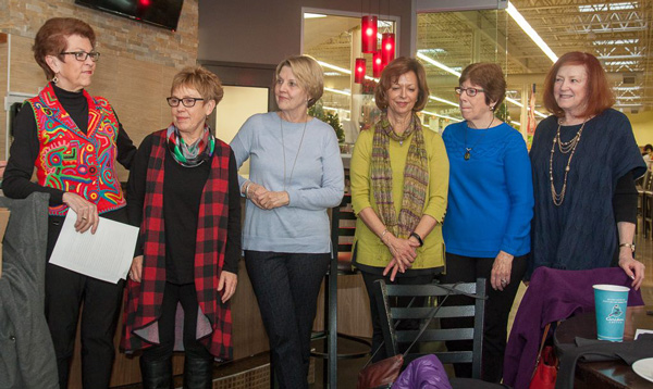 Linda Cox, Monica Davis, Laurie Farrell, Sue Hage, Sue Manson, and Pat Ryan received an award for their dedication to the after school program at the newly renovated Boulevard Town Homes.