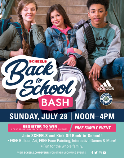 SCHEELS Back to School Bash. Date: Sunday, July 28th
