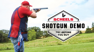 Join us Saturday, August 17th, 2019 for our SCHEELS Shotgun Demo Day, 9am-12pm at Raging Bullet Guns and More Inc. to try the latest in shotguns.