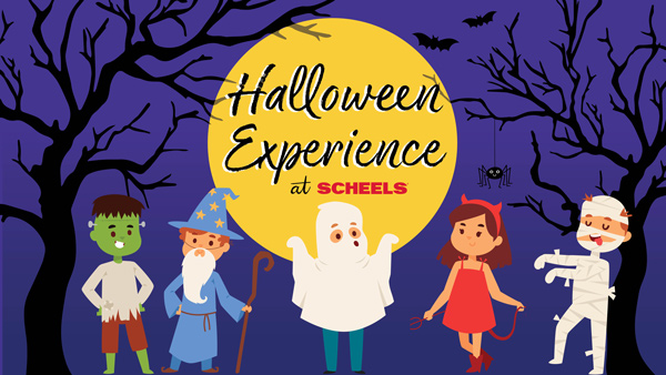 Join SCHEELS and community partners for some Halloween fun on Wednesday, October 30, 2019 at 4 PM - 7 PM