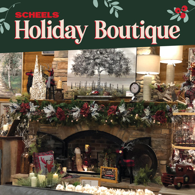 Join SCHEELS Home Decor Stylist on Saturday, November 9, 2019 at 9 AM - 3 PM for our annual Holiday Boutique!