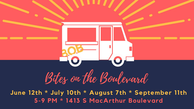 The MacArthur Boulevard Association is very excited to announce our 2018 Bites on the Boulevard season, with dates on June 12th, July 10th, August 7th, and September 11th.